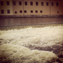 The industrial waterfalls of my hometown, Norrköping, Sweden.