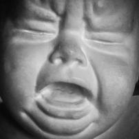 A scream in stone